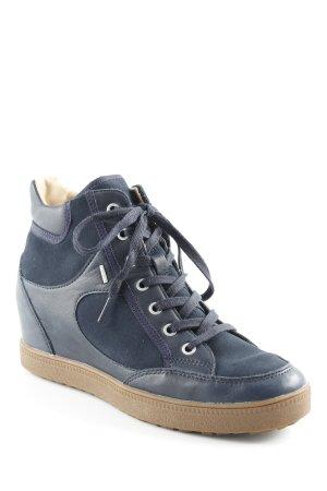 Geox Respira Wedge Sneaker dunkelblau Casual-Look