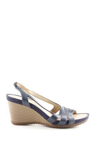 Geox Respira Wedges Sandaletten blau-creme Casual-Look