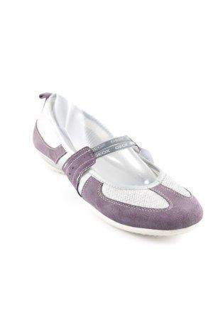 Geox Ballerines à lacets gris violet-argenté style décontracté