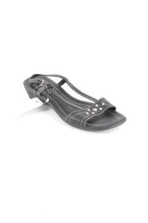 Geox Riemchen-Sandalen schwarz klassischer Stil