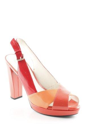 Geox Riemchen-Sandaletten lachs-rot extravaganter Stil
