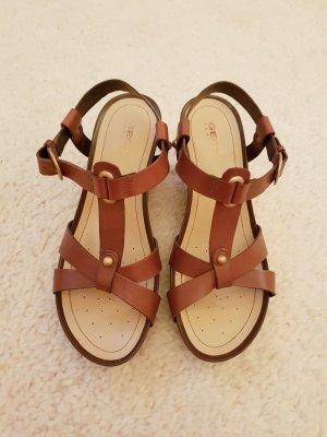 GEOX Sandalen aus Leder mit Keilabsatz