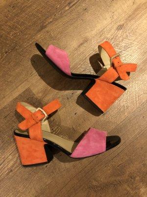 Geox Sandalette High Heels orange pink Riemchen