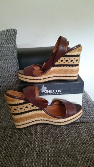Geox Respira Wedge Sandals brown