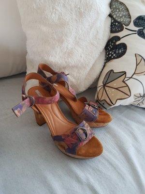 Geox High-Heeled Sandals grey violet