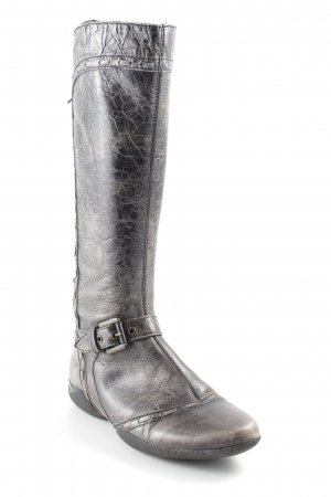 Geox Jackboots green grey-khaki animal pattern extravagant style