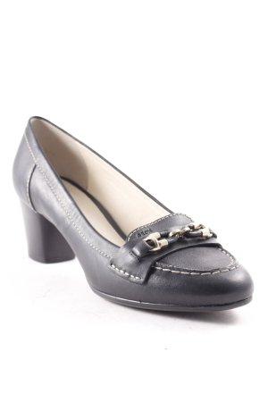 Geox Schlüpfschuhe schwarz-silberfarben klassischer Stil