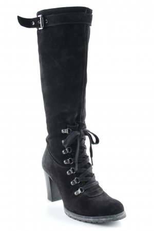 Geox Lace-up Booties black elegant