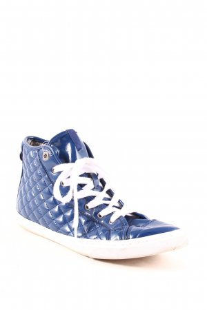 Geox Zapatos brogue azul look casual