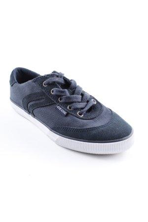 Geox Schnürschuhe blau Skater-Look