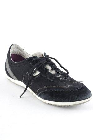 Geox Schnürschuhe schwarz Casual-Look
