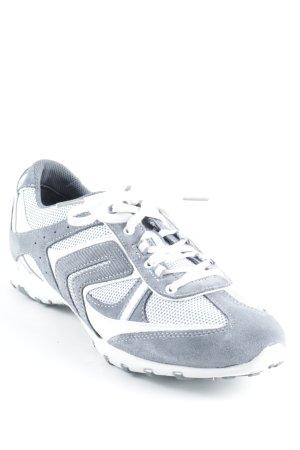 Geox Schnürsneaker dunkelgrau-weiß sportlicher Stil