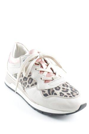 Geox Sneakers met veters luipaardprint Metalen look