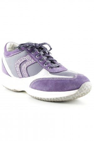Geox Schnürsneaker lila-weiß Casual-Look