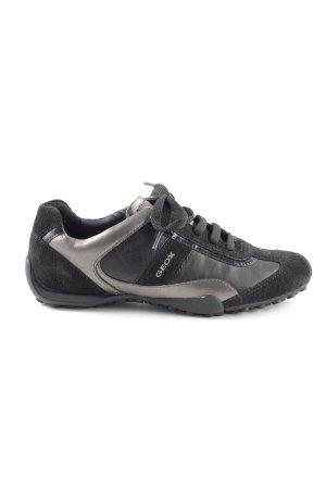 Geox Schnürsneaker schwarz-hellgrau sportlicher Stil