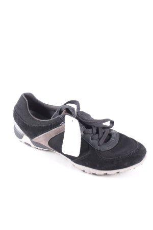 Geox Schnürsneaker schwarz sportlicher Stil