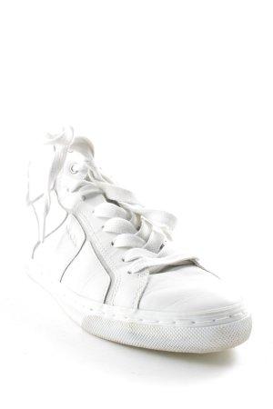 Geox Schnürsneaker weiß-silberfarben sportlicher Stil