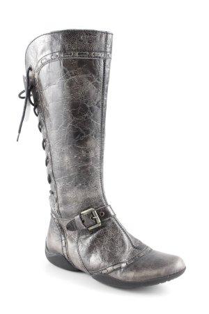 Geox Botas con cordones gris verdoso-negro look de segunda mano