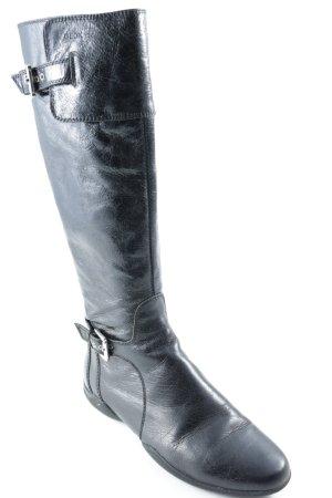 Geox Botas con cordones negro estilo sencillo