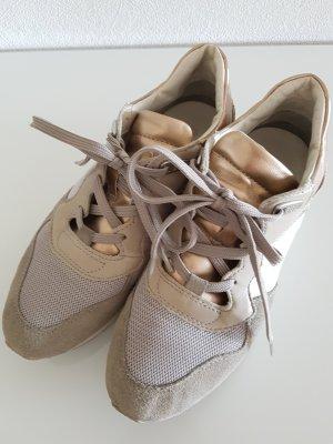 GEOX Sneaker, Gr.37, grau/roségold, Leder