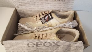 Geox Sneaker Turnschuhe Respira Ivory Größe 41 NEU beige silber