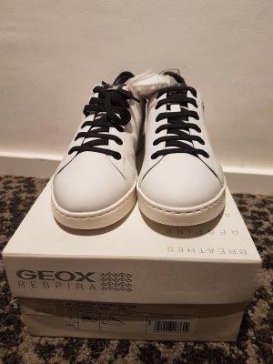 Geox Respira Sneaker stringata bianco-nero Pelle