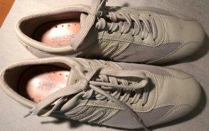 GEOX Sneakers sandfarben Leder/Gewebe