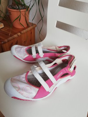 Geox, sportliche Ballerina, Gr. 40, weiß rosa
