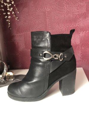 Geox Korte laarzen zwart-zilver