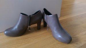 Geox Stiefletten Ankle Boots Gr. 38,5 grau taupe neu