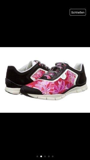 Geox Sukie NEU Trainingsschuhe Sneaker Pink Palmen Blätter Print Turnschuhe gemustert Blumen
