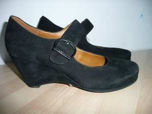 Geox Backless Pumps black suede