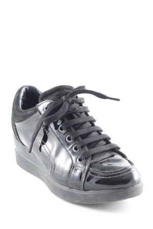 Geox Wedge Sneaker schwarz extravaganter Stil