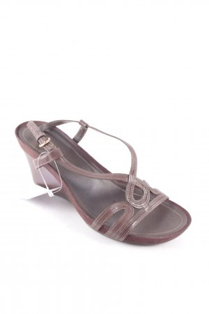 Geox Wedges Sandaletten braun Street-Fashion-Look