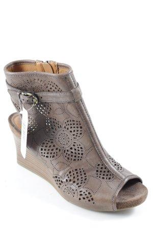 Geox Wedge Sandals dark brown casual look