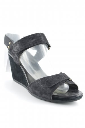 Geox Wedges Sandaletten schwarz Casual-Look