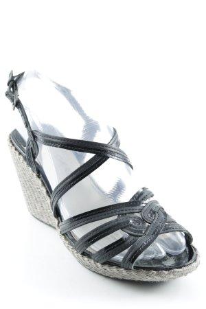 Geox Wedges Sandaletten schwarz Elegant