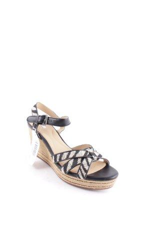 Geox Wedges Sandaletten schwarz-hellbeige Boho-Look