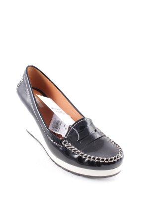 Geox Wedges Sandaletten schwarz-weiß extravaganter Stil