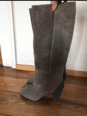 Geox Laarzen met hak grijs-antraciet