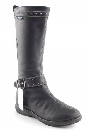 Geox Winterstiefel dunkelbraun Street-Fashion-Look
