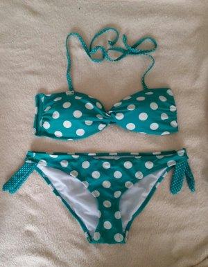 Gepunkterter Bikini Neckholder