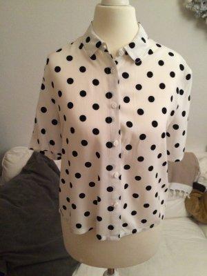 H&M Camicetta a maniche corte bianco-nero