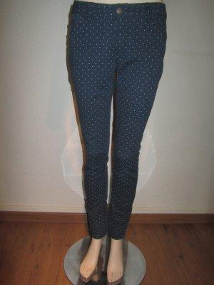 Jeans skinny blu scuro-bianco Cotone