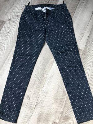 Bodyflirt Pantalon cinq poches bleu-blanc