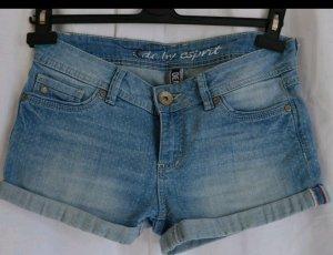 Gepunktete Jeans Shorts