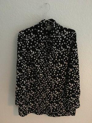 gepunktete Oversize-Bluse