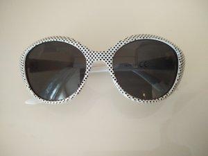 gepunktete retro Sonnenbrille mit Tasche