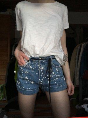 Forever 21 Pantaloncino di jeans bianco-blu
