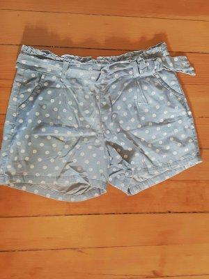 Gepunktete Shorts mit Schleife Fishbone M